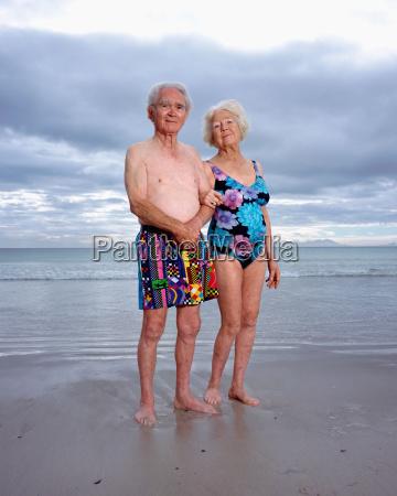 a mature couple on the beach
