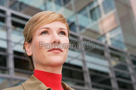 businesswoman outside office