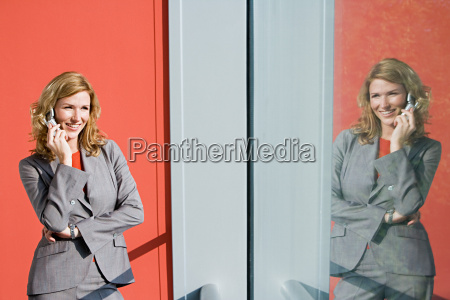 businesswoman on mobile