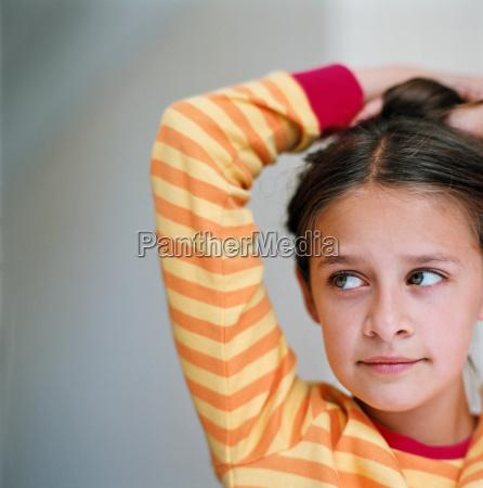 portrait of a girl wearing a