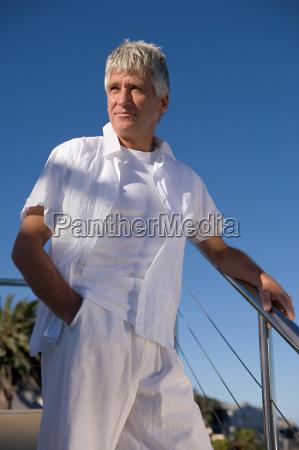 mature man in white