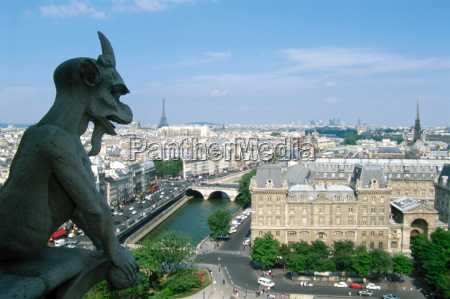view from notre dame paris france