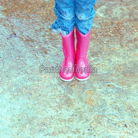 rosa gummistiefel