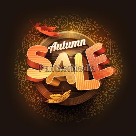 vector autumn sale poster design template