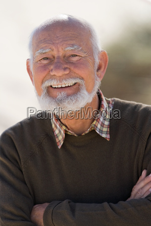 smiling senior adult man