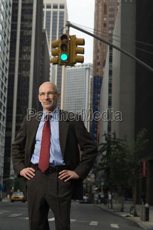 senior businessman in new york city