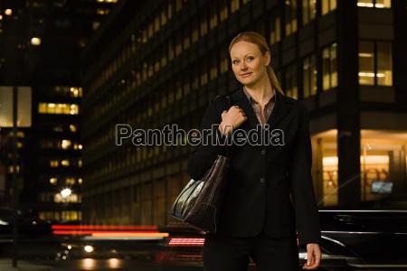 businesswoman at night