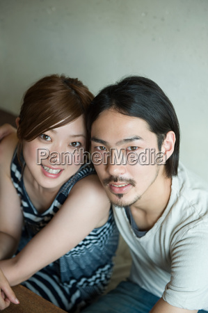 young japanese couple