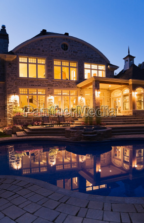 large house and swimming pool