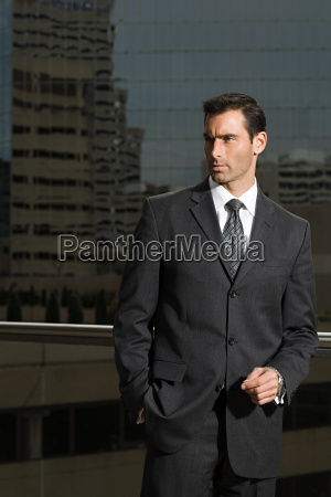 portrait of a businessman against a