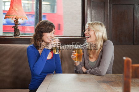 young women in bar