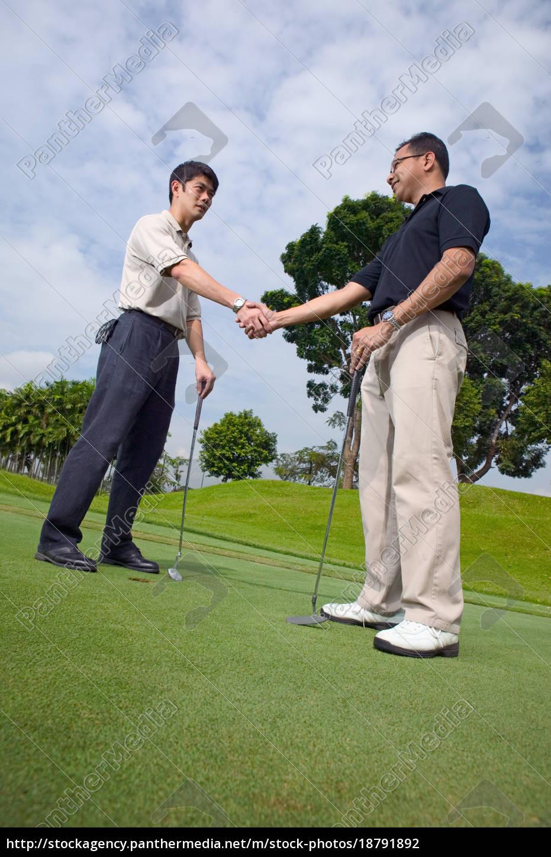 zwei, männer, spielen, golf - 18791892