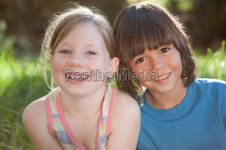 boy and girl smiling