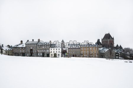 view of snow covered park and