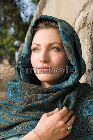 young woman wearing headscarf