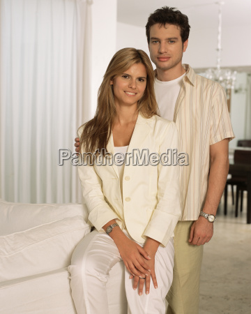 young couple in their living room