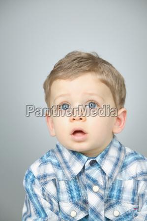 shocked looking boy
