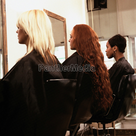 three women at hairdressers