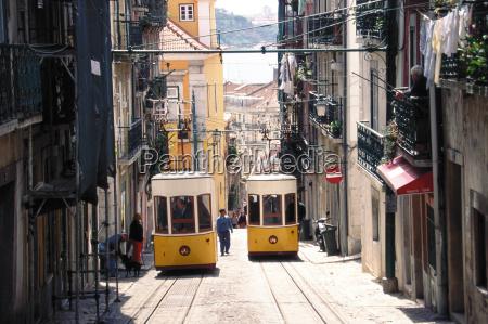 trams lisbon portugal