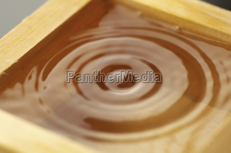 abstract concentric circles in liquid close