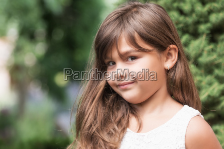 portrait of smiling attractive little girl