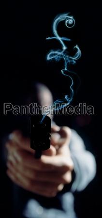 pound sign in gun smoke