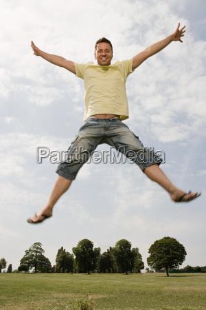 man star jumping