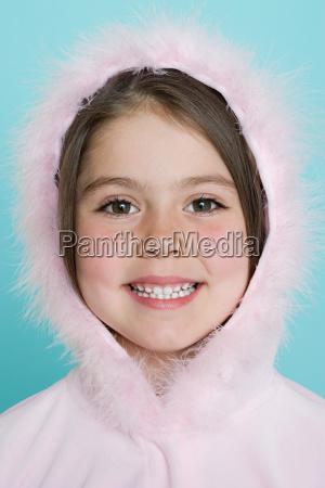 girl wearing hood