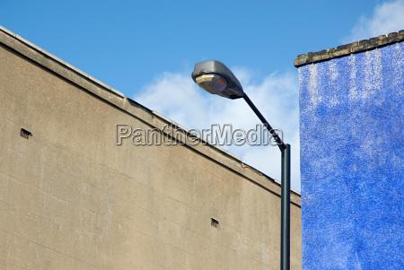 street light and walls