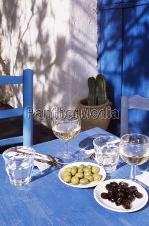 olives on a table