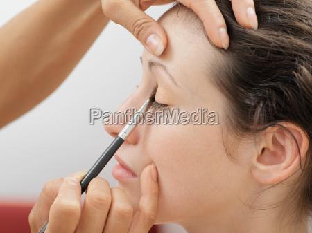 frau profil hand weiblich auge oculus