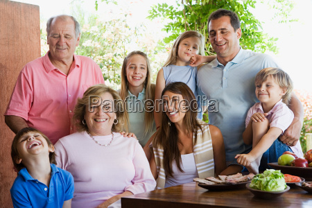 family at lunch