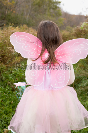 girl dressed as fairy