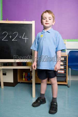 boy solving sums