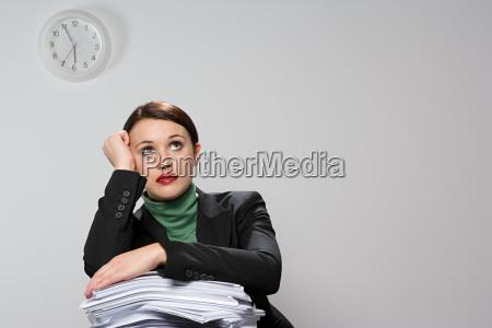 bored businesswoman