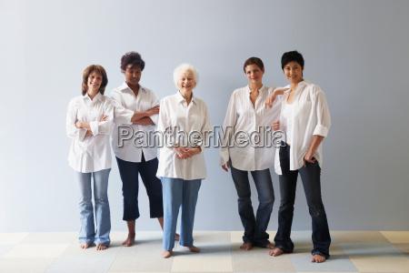 portrait of five women