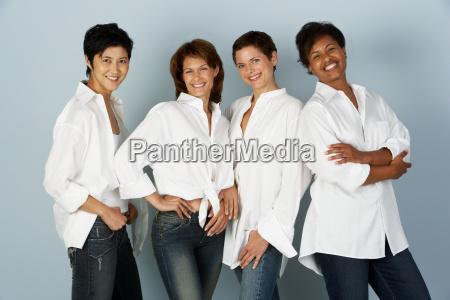 portrait of four women