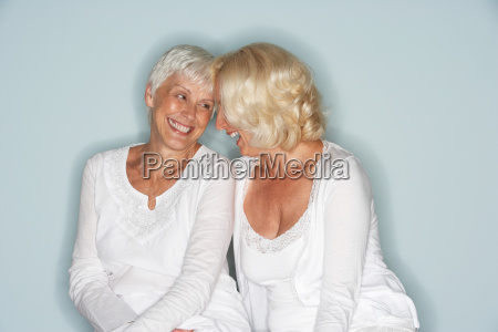 portrait of two mature woman