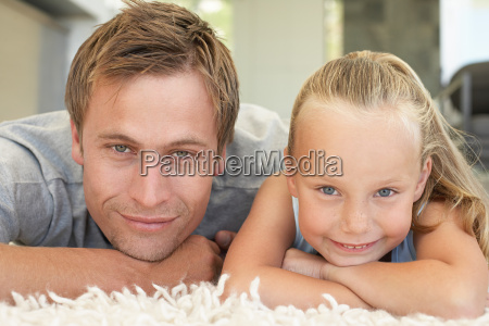 portrait of a father and his