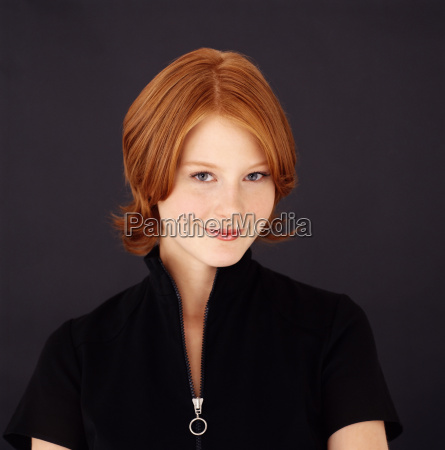 young red headed woman