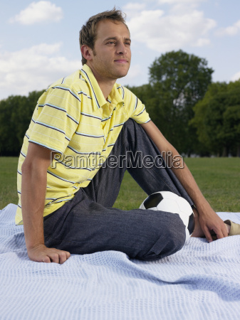 man sitting in a park