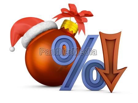 arrow and christmas ball