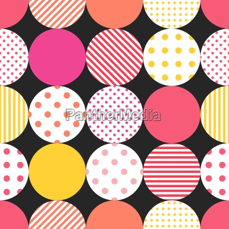 tile vector pattern with pastel polka