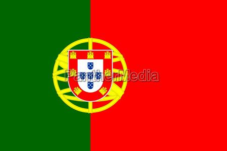 flagge von portugal in korrekten proportionen