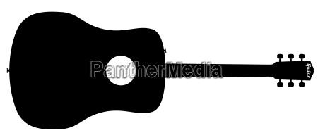 musikalisch gitarre saiten silhouette silhoutte schattenbild