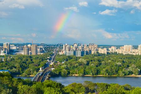 beautiful kiev cityscape ukraine