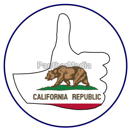 schild signal zeichen kalifornien fahne flagge