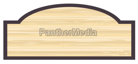 blank wooden store sign