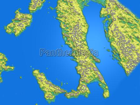 landkarte italien griechenland