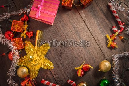 weihnachts geschenk box essen dekor und